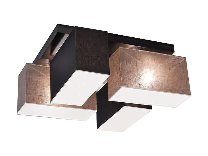 Deckenlampe mit Blenden BLEJLS4126D Deckenleuchte Leuchte Lampe 4-flammig  Holz Kinderzimmer Wohnzimmer Schlafzimmer Küche Lampe LED-geeignet ...