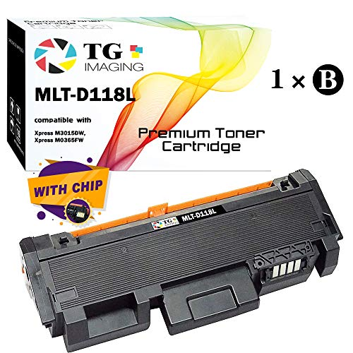 TG Imaging MLT-D118L D118L 4,000 Pages Yield Compatible Black Laser Toner Cartridge For Xpress M3015DW, Xpress ()