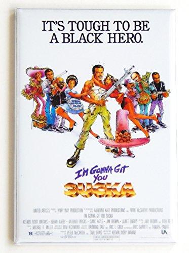 I'm Gonna Git You Sucka Movie Poster Fridge Magnet (2.5 x 3.5 inches)