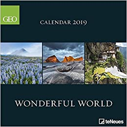 Calendrier Geo 2019.2019 Geo Wonderful World Calendar Teneues Grid Calendar