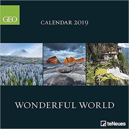 2019 GEO Wonderful World Calendar - teNeues Grid Calendar - Photography Calendar - 30 x 30 cm