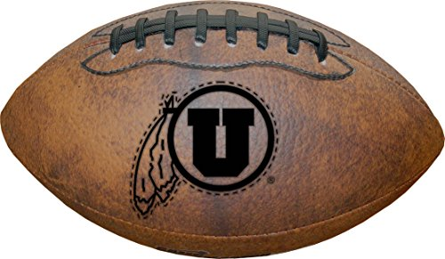 NCAA Utah Utes Vintage Throwback Football, 9-Inches