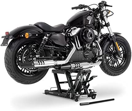 ConStands L black-orange FXDB Jack Scissor Hydraulic Lift for Harley Davidson Dyna Street Bob