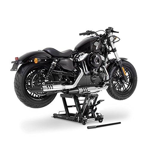 Cric moto ConStands Mid-Lift L noir pour Suzuki Intruder VL 125, Intruder VL 250/1500 LC, Intruder VL 800 Volusia, Intruder VS 600/750/800/1400