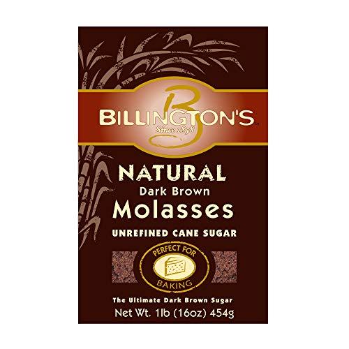 Billington's Natural Dark Brown Molasses Sugar, 1 LB (Pack of 10)