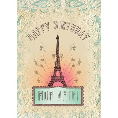 Amazon happy birthday mon amie greetings card by papaya greetings card by papaya m4hsunfo
