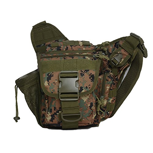 Mini Crossbody Molle Pouch Waterproof Camping Hiking Bags Sport Bag Outdoor Military Backpack Durable Rifle Bag (Jungle Digital) by Greewood