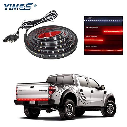 - Car Light Assembly Yimeis 60Inch LED Tailgate Light Bar Truck Tail Light Strip Red/White Reverse Brake Turn Signal Running Lamp Universal for Jeep