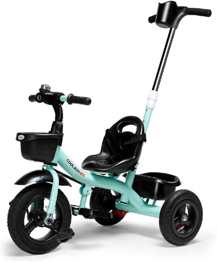 Mysida Kids' Bikes 3 Ruedas 2 en 1 triciclos de Trike de niños de niños con Padres extraíbles Empuje la Barra de la manija