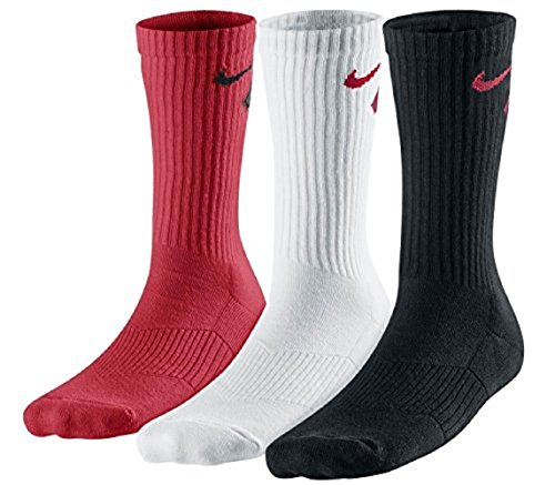 Nike Big Boys' Performance Crew Socks (Multicolor 3, 3Y-5Y)