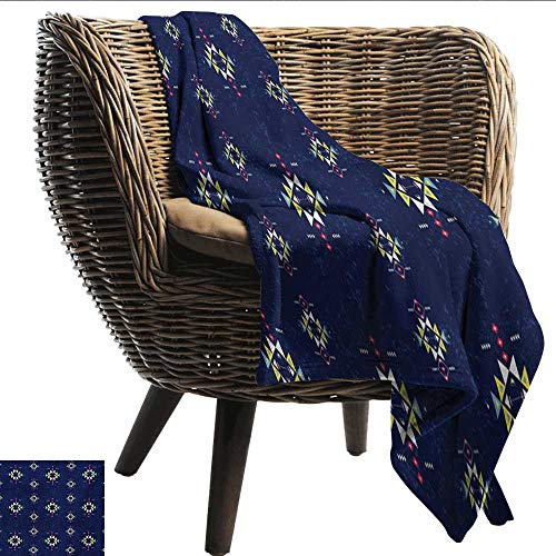 (EwaskyOnline Primitive Baby Blanket Geometric Ornament with Ethnic Style and Grunge Backdrop Triangles and Arrows Recliner Throw,Couch Throw, Couch wrap 91