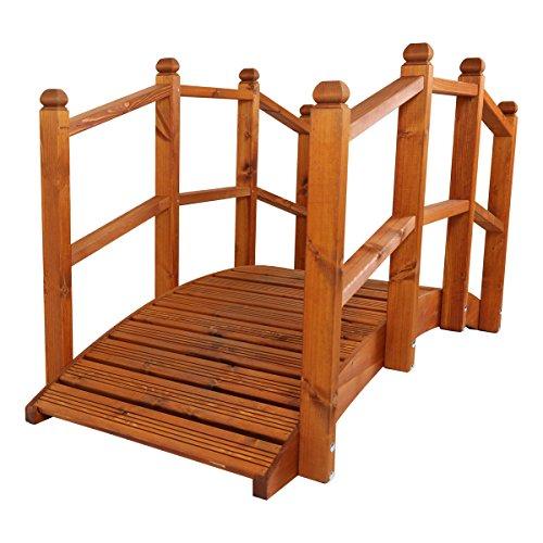 Gartenbrücke, orientalischer Stil, Holz, handgefertigt, groß, 1,83 m)