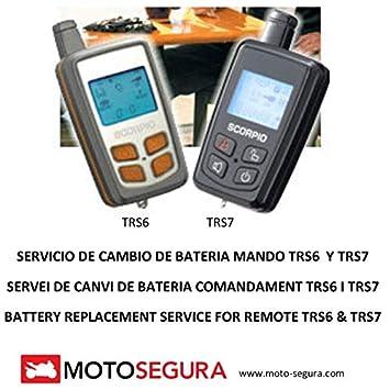 Mando Alarma Scorpio SR-i600 (Cambio Bateria/Battery ...