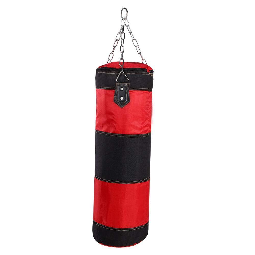 Trainingsboxsack mit Kette f/ür Erwachsene M/änner Frauen Leer Schwerer Boxsack