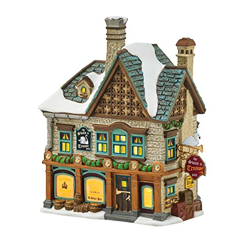 department 56 dicvl the swan trumpet lit_house - Lighted Christmas Houses