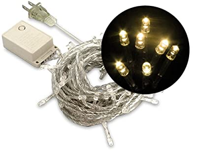 LED Christmas Lights (100 LEDs, 10 Meters), Warm White