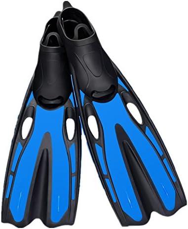 水泳用フィン 水泳のシュノーケリングの活動のための軽量の水泳用フィンのダイビングのひれ スイミングフリッパー (色 : 青, Size : ML)