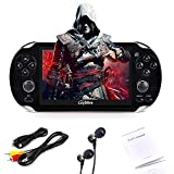 Loyalfire Handheld Game Console, Game Player with 4.3'' 64-bit LED Lights 4GB System Portable Video Games, Supports Multiple File Formats, for Birthday Presents Kids Children (Black)