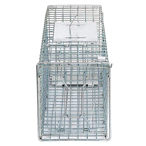 HomGarden Live Animal Trap Catch Release Humane Rodent Cage for Rabbits, Groundhog, Stray Cat, Squirrel, Raccoon, Mole, Gopher, Chicken, Opossum & Chipmunks Nuisance Rodents (24'' X 8'' X 7.5'')