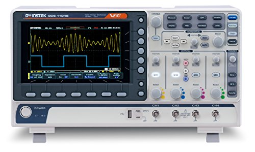 GW Instek GDS-1054B Digital Storage Oscilloscope, 4-Channel, 1 GSa/s Maximum Sampling Rate, 50 MHz, 10M Maximum Memory Depth for Each Channel