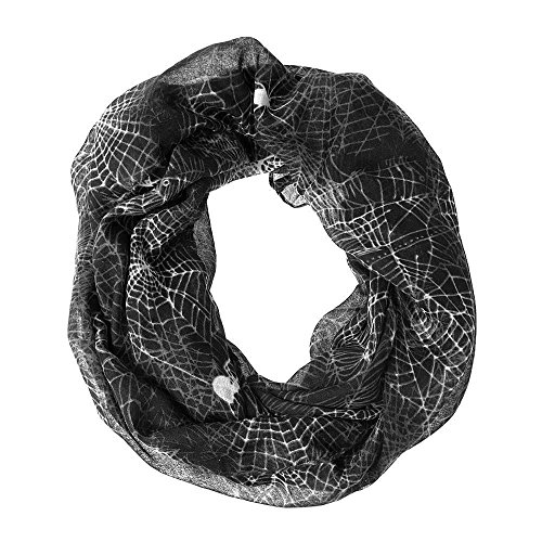 [Claire's Halloween Women's Cobweb Infinity Scarf] (Halloween Accessories Claires)