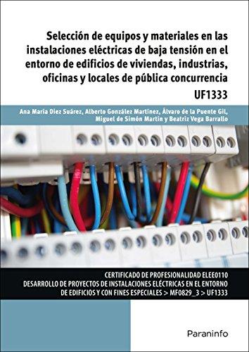 Selección de equipos y materiales en las instalaciones eléctricas de baja tensión en el entorno de edificios de viviendas, industrias, oficinas y locales de pública concurrencia