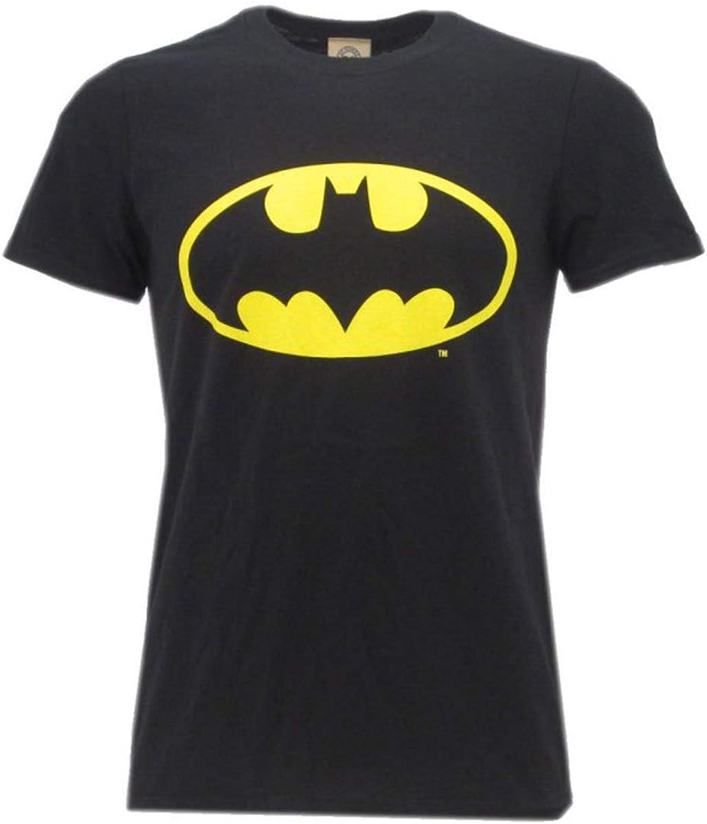 Large Ufficiale Originale Warner Bros T-Shirt Logo Batman Super Eroe DC Comics Maglia Maglietta