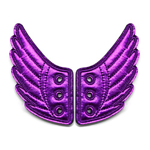 Shoe Wings Accessory-YuQi Shoe Decorations For Kids Daily Style Accessories (purple)