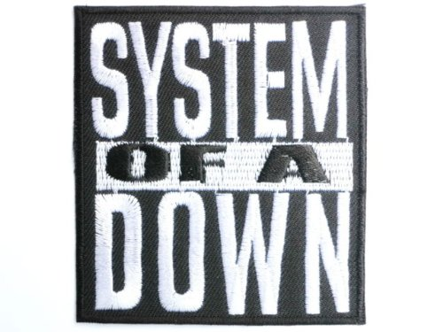 """SYSTEM OF A DOWN Logo Iron On Sew On Embroidered Patch2.9""""/7.4cm x 2.6""""/6.8cm By MNC Shop"""