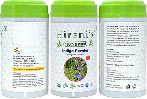100% Natural Indigo Powder for Hair Color 227 / 0.5 LB (Indigofera Tinctoria) by Hirani's (Image #2)