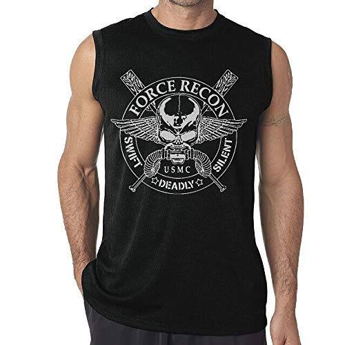 United States Marine Corps Force Recon Men's Sleeveless T Shirts Fitness Vest Gym Tank Top Shirt