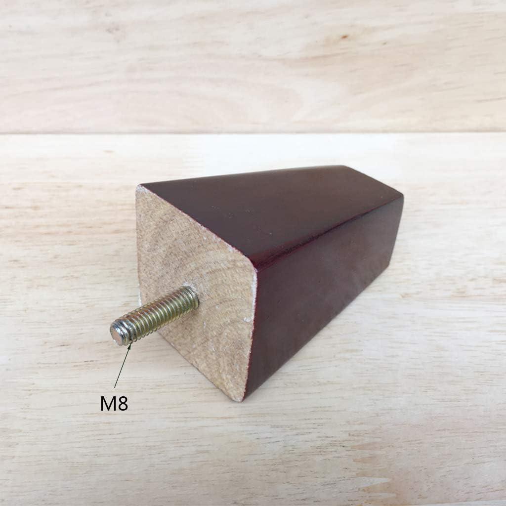 4 Stucke 8 Cm Hohe Massivholz Mobelfusse Sofa Beine M8 Holz Ersatz