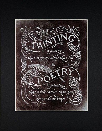 Leonardo da Vinci Quote Fine Art Print ()