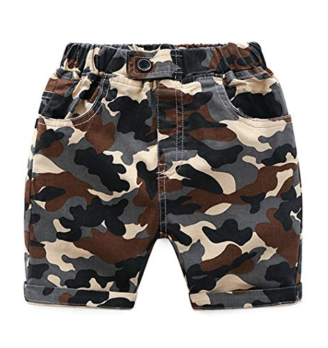 Zernar Little Boys Camouflage Shorts,Kids Fashion Cargo Short(Camouflage,5-6Years)