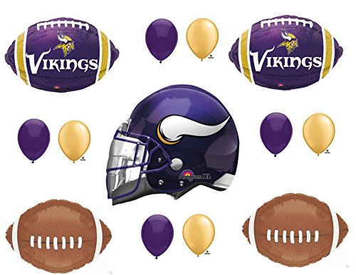 Minnessota Vikings Helmet Birthday Party Balloons Decoration Supplies