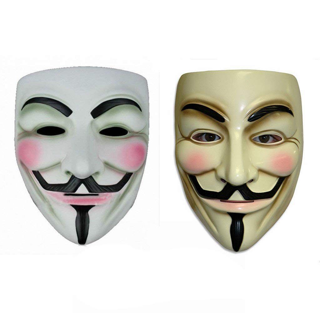 V for Vendetta Guy Fawkes Anonymous Mask 2 Pieces