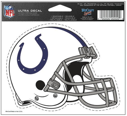 "Indianapolis Colts Team Logo 5""x6"" NFL Helmet Decal"