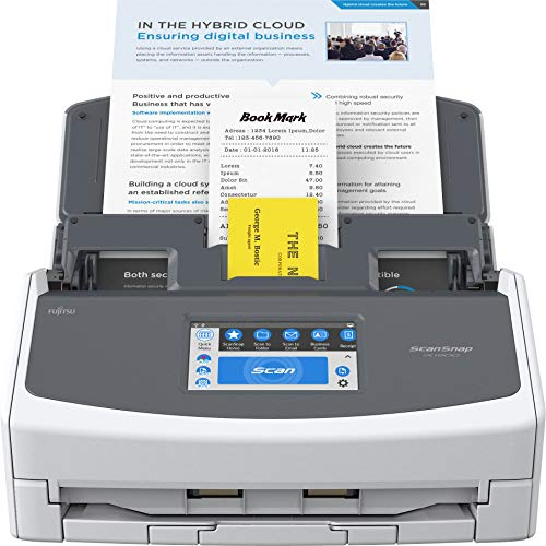 Fujitsu ScanSnap iX1600 Versatile Cloud Enabled Document Scanner for Mac and PC, White