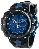 Invicta Men's 14417 Jason Taylor Reserve Chronograph Blue Dial Black Polyurethane Watch, Watch Central