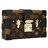 EROUGE Designer Handbags PU Leather Crossbody Bags Women Shoulder Bag for Wedding Party(Brown)