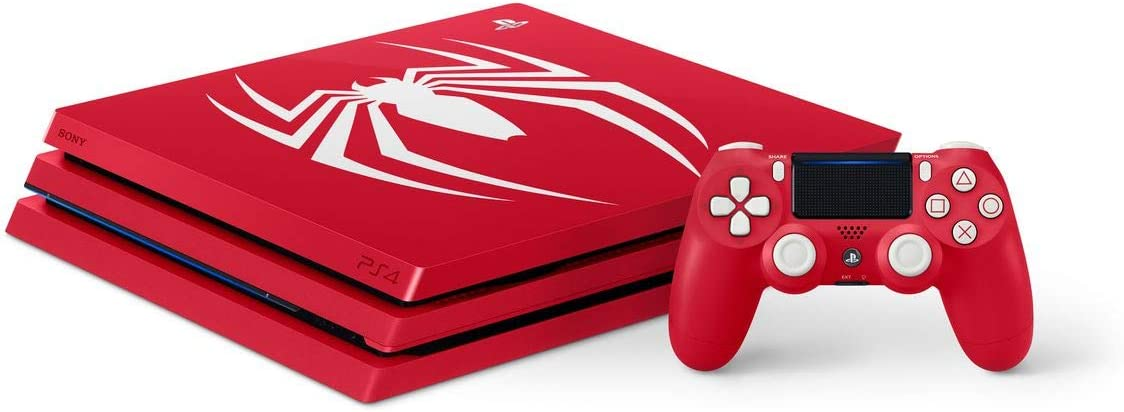 Playstation 4 Pro 2TB SSHD Limited Edition Console – Marvels Spider-Man Bundle Enhanced with Fast Solid State Hybrid Drive