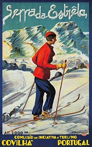 serra-da-estrela-vintage-poster-artist-abrau-portugal-c-1940-12x18-collectible-art-print-wall-decor-