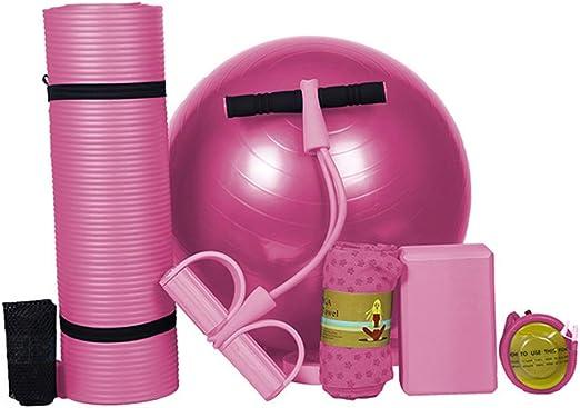 YCLOTH Kit de Gimnasio en casa, Yoga, Esterilla de Yoga para Principiantes + Dispositivo de Tirar