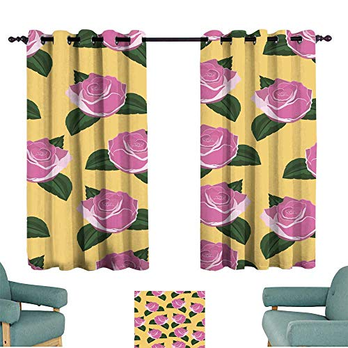 Warm Family Fashion Curtain Seamless Wallpaper Pink Roses Suitable for Bedroom Living Room Study, etc.