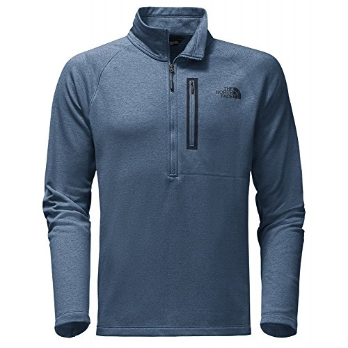 The North Face Men's Canyonlands 1/2 Zip Shady Blue Heather - L by The North Face