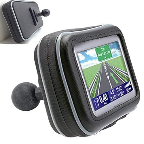"ChargerCity XXL Water Resistant 5"" GPS Case for Garmin Nuvi Drive DriveSmart 50 51 52 54 55 56 57 58 2597 2595 2599 LM LMT Tomtom XL 3XX XXL 5XX GO VIA Start GPS w/ 1"" Male Ball Connection"
