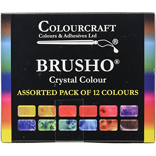 Colour Crystal - Brusho by Colourcraft 12 Color Brusho Crystal Colour Set