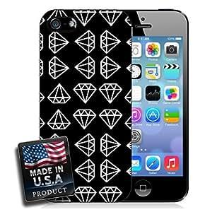 linJUN FENGDiamond Black White Pattern iPhone 4/4s Hard Case