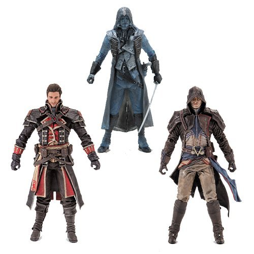 Assassin's Creed Series 4 Shay Cormac, Arno Dorian and Eagle Vision Arno Action Figures Set of 3