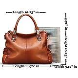 BIG-SALE-AINIMOER-Womens-Genuine-Leather-Vintage-Tote-Shoulder-Bag-Top-handle-Crossbody-Handbags-Large-Capacity-Ladies-Purse